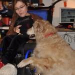 Magda Kulus wraz z psem asystującym Igorem